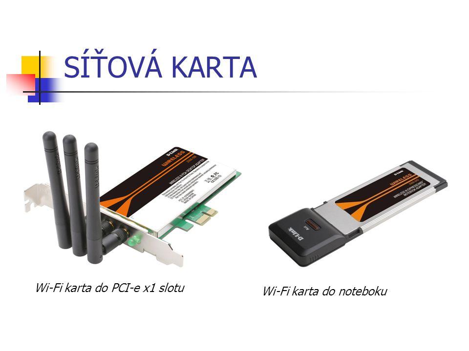 SÍŤOVÁ KARTA Wi-Fi karta do PCI-e x1 slotu Wi-Fi karta do noteboku