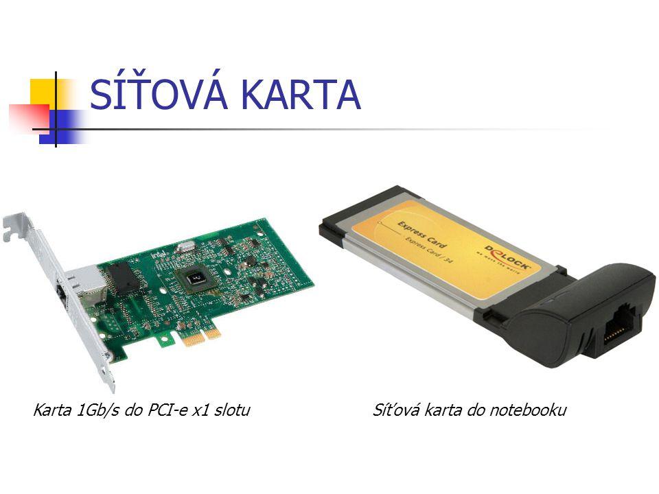 SÍŤOVÁ KARTA Karta 1Gb/s do PCI-e x1 slotu Síťová karta do notebooku