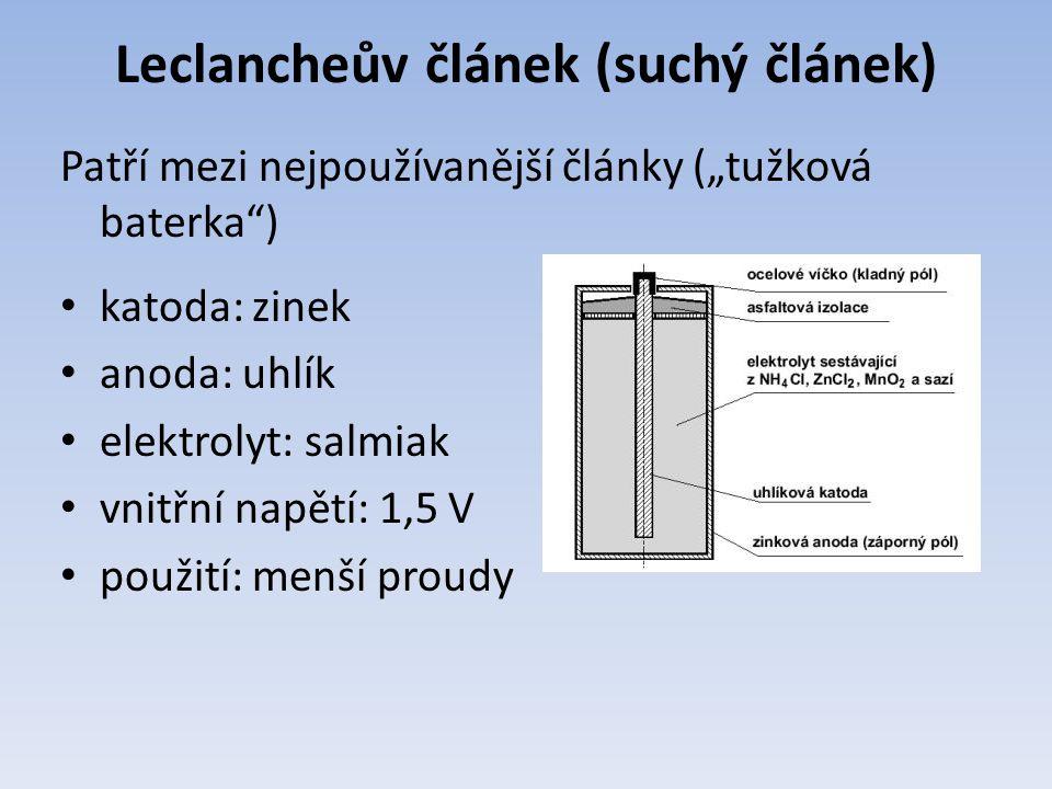 Leclancheův článek (suchý článek)