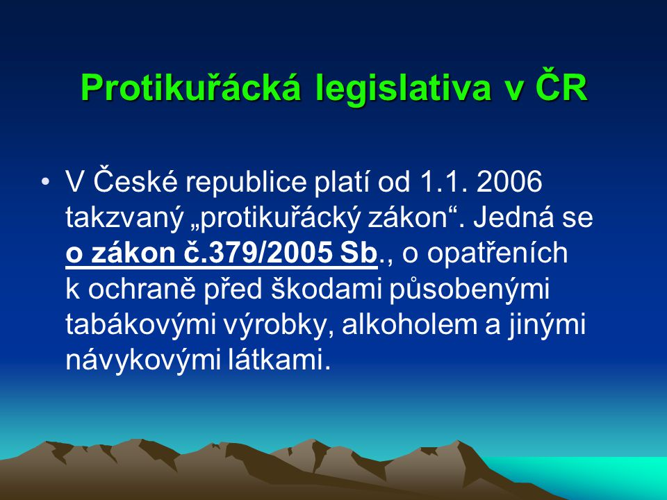 Protikuřácká legislativa v ČR