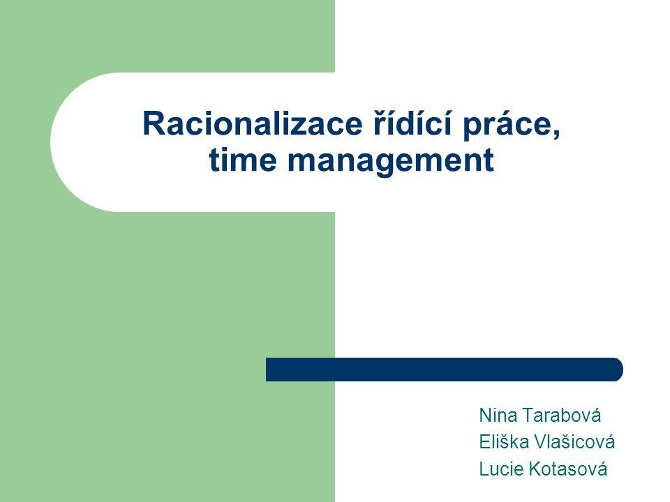 Racionalizace řídící práce, time management