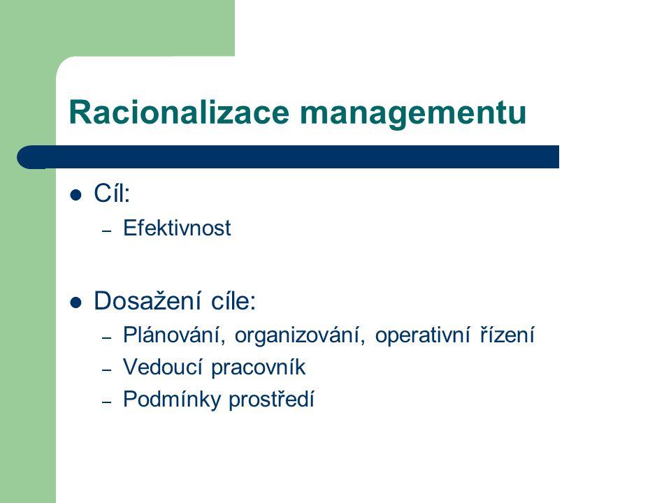 Racionalizace managementu
