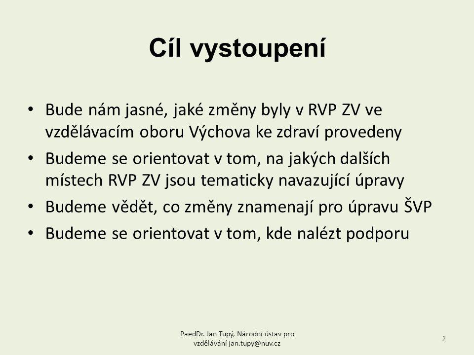 PaedDr. Jan Tupý, Národní ústav pro vzdělávání jan.tupy@nuv.cz