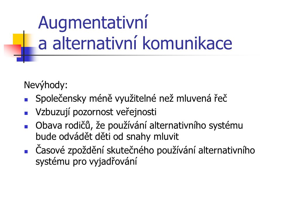Augmentativní a alternativní komunikace