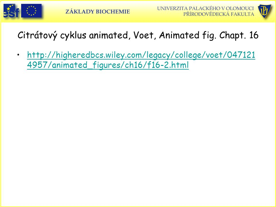 Citrátový cyklus animated, Voet, Animated fig. Chapt. 16
