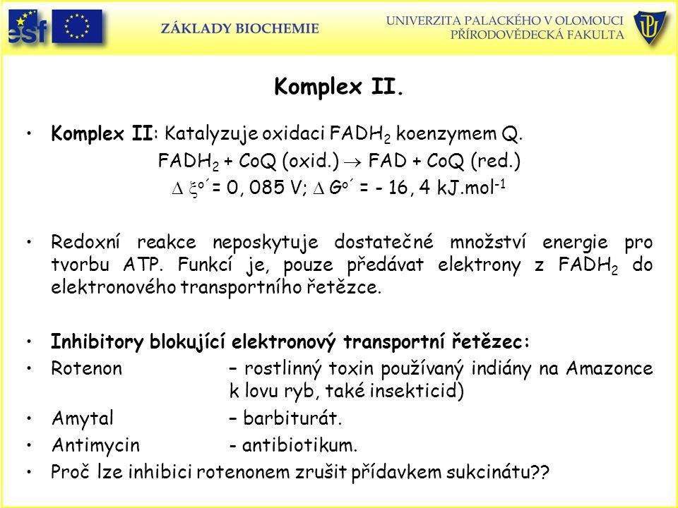 FADH2 + CoQ (oxid.)  FAD + CoQ (red.)