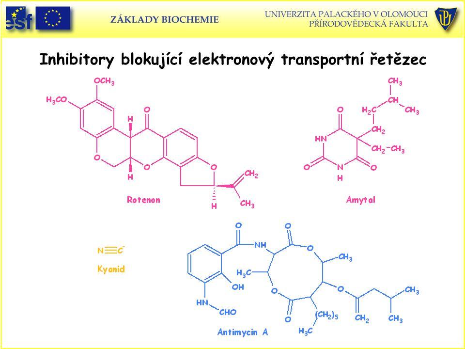 Inhibitory blokující elektronový transportní řetězec