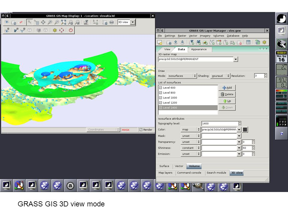 GRASS GIS 3D view mode
