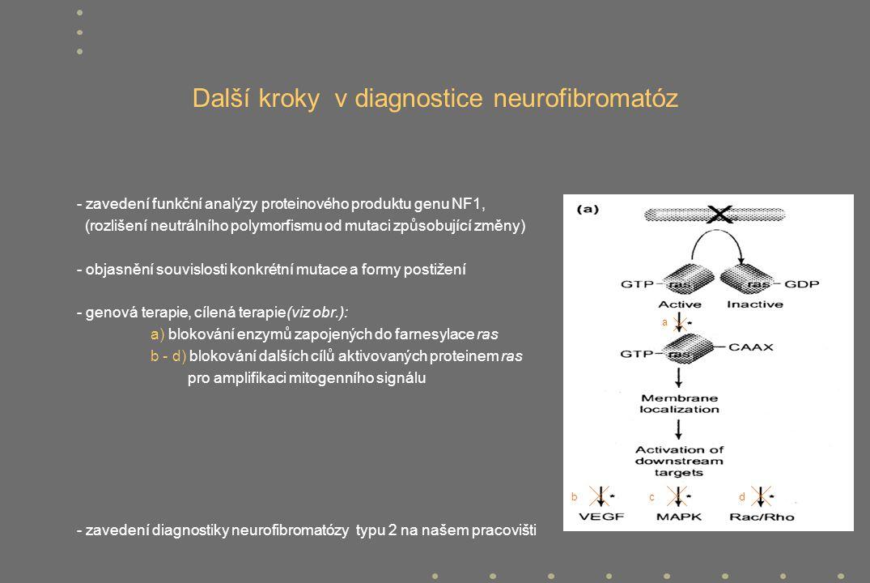 Další kroky v diagnostice neurofibromatóz