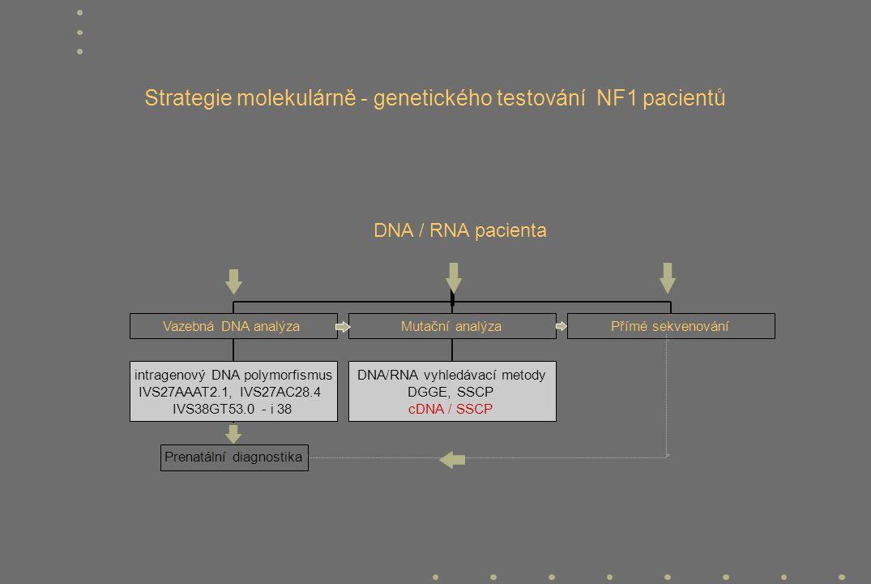 Strategie molekulárně - genetického testování NF1 pacientů