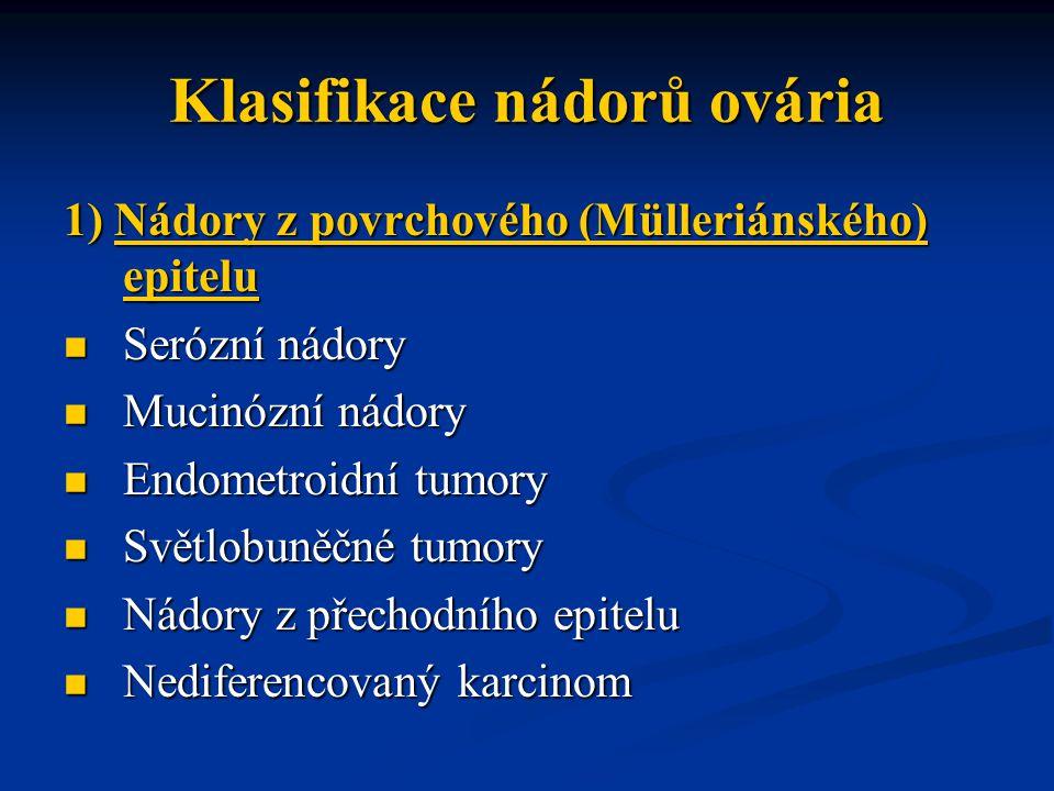Klasifikace nádorů ovária