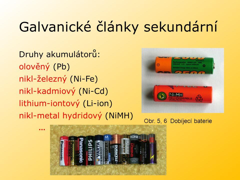 Galvanické články sekundární