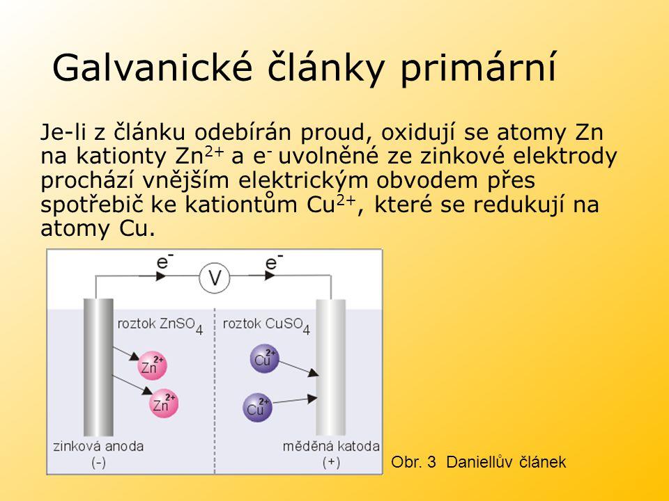 Galvanické články primární