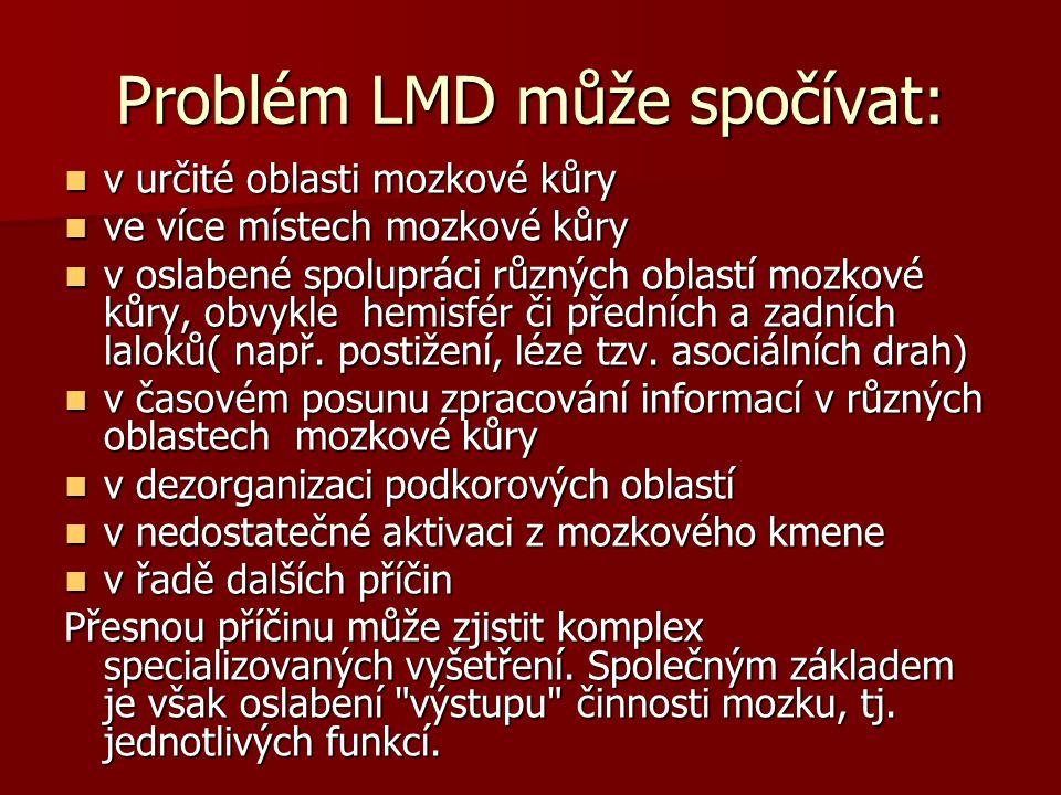 Problém LMD může spočívat: