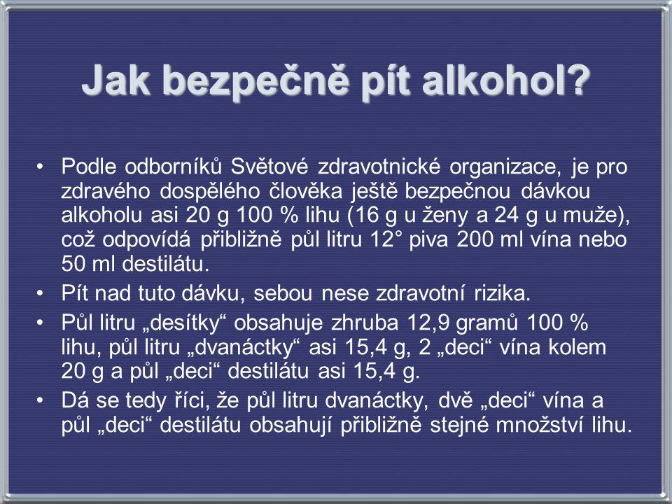 Jak bezpečně pít alkohol