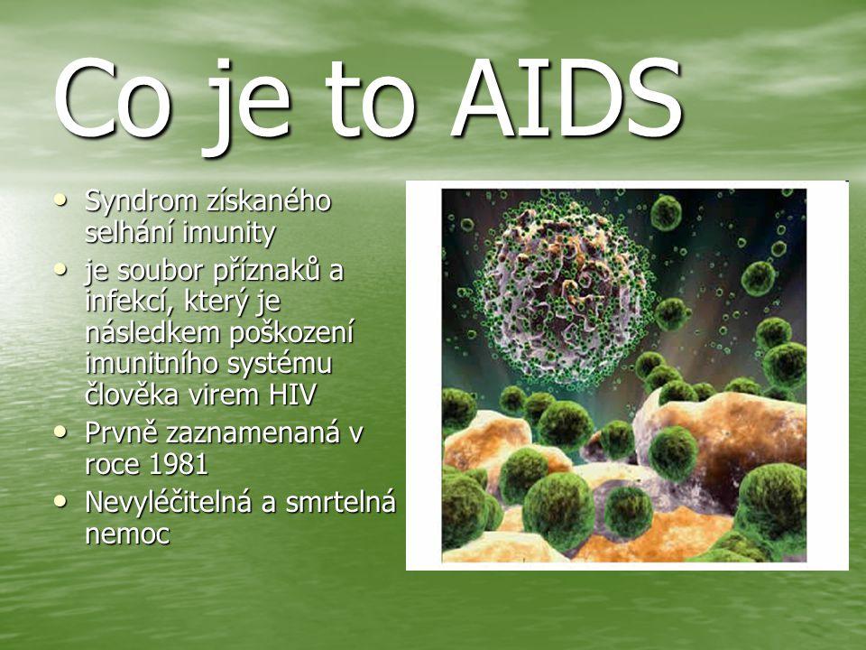 Co je to AIDS Syndrom získaného selhání imunity