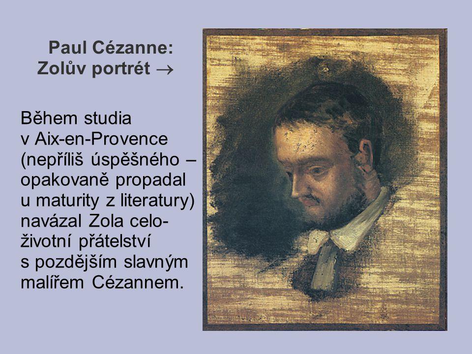 Paul Cézanne: Zolův portrét 