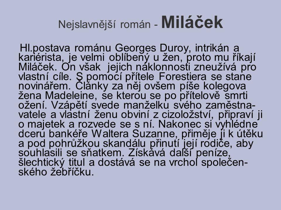 Nejslavnější román - Miláček