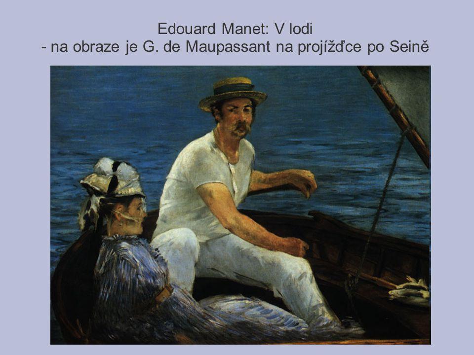 Edouard Manet: V lodi - na obraze je G