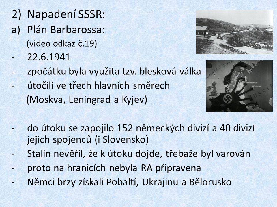 Napadení SSSR: Plán Barbarossa: 22.6.1941