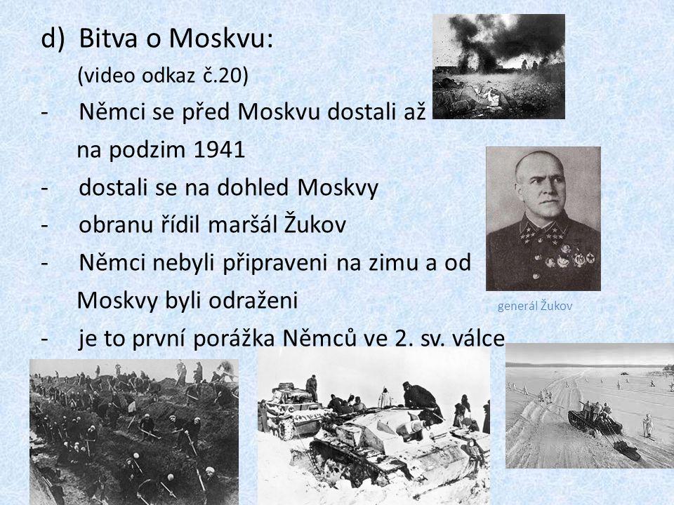 Bitva o Moskvu: Němci se před Moskvu dostali až na podzim 1941