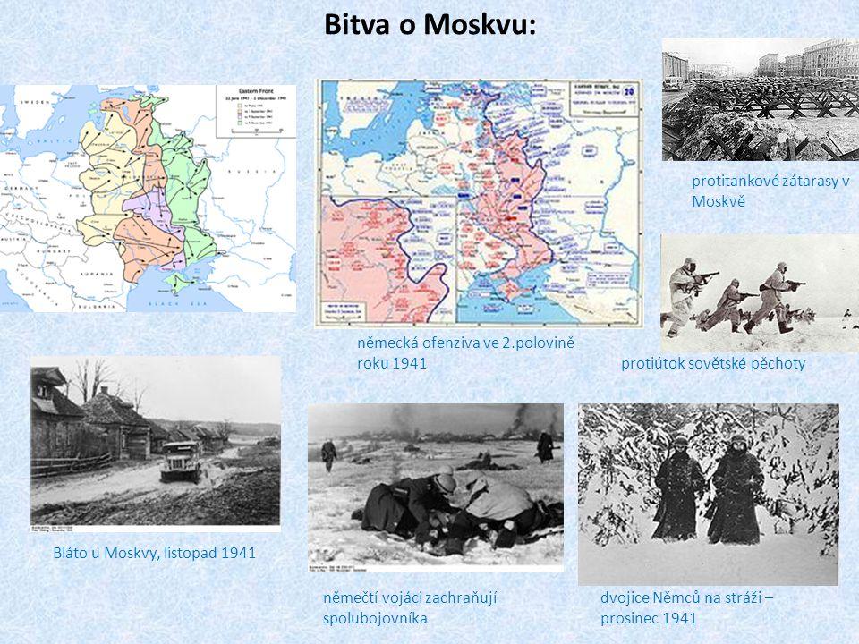 Bitva o Moskvu: protitankové zátarasy v Moskvě