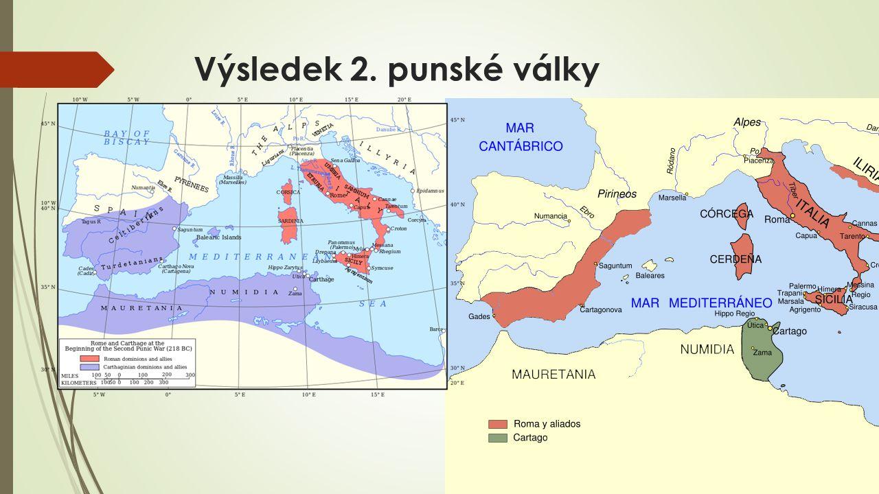 Výsledek 2. punské války porážka Kartága odškodné ztráta loďstva