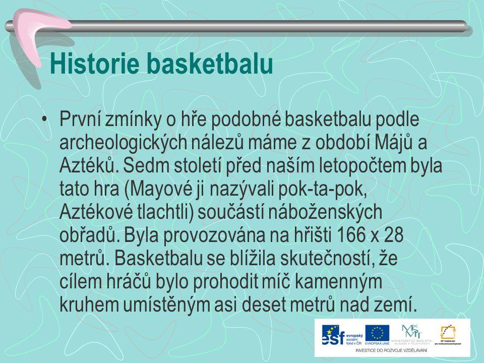 Historie basketbalu