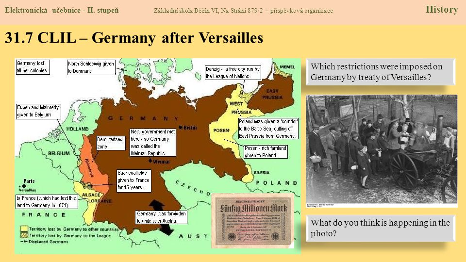 31.7 CLIL – Germany after Versailles