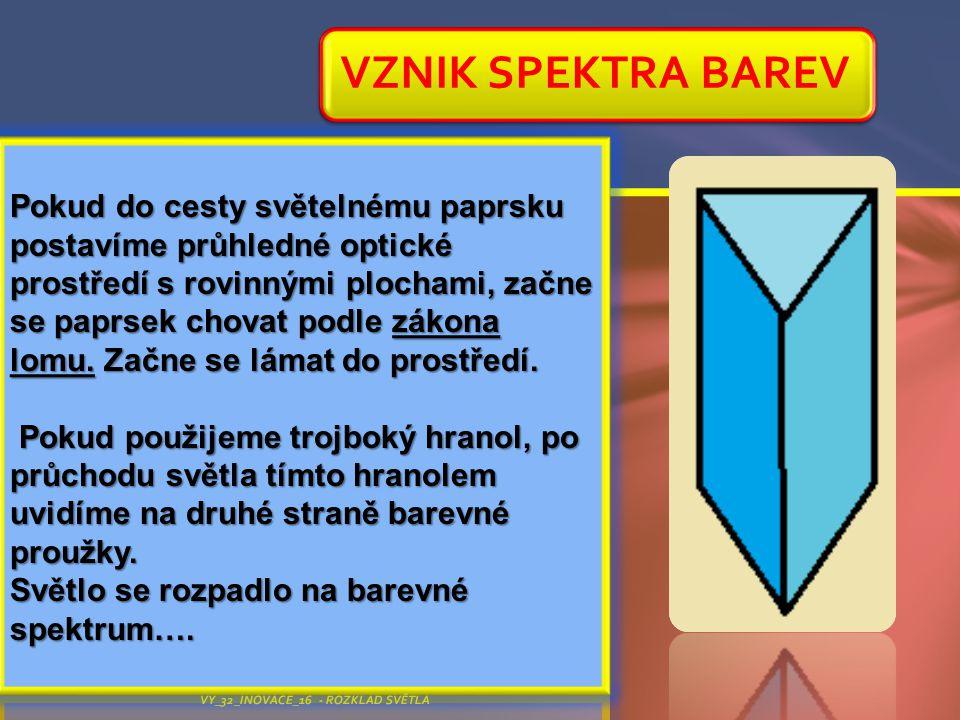 VZNIK SPEKTRA BAREV