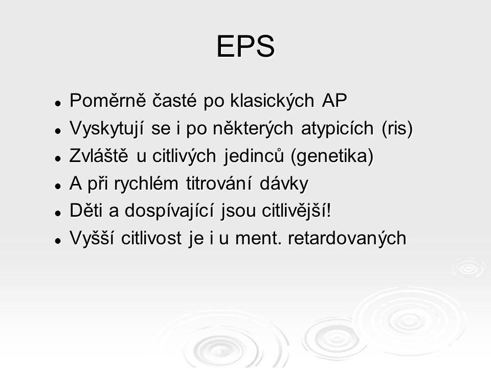 EPS Poměrně časté po klasických AP