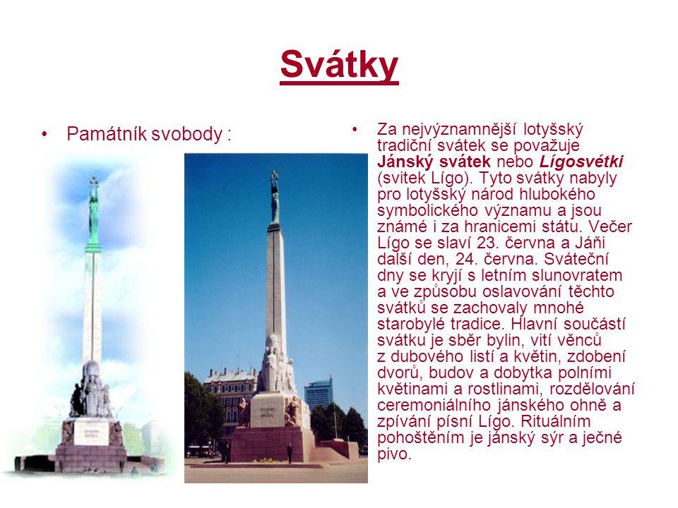 Svátky Památník svobody :