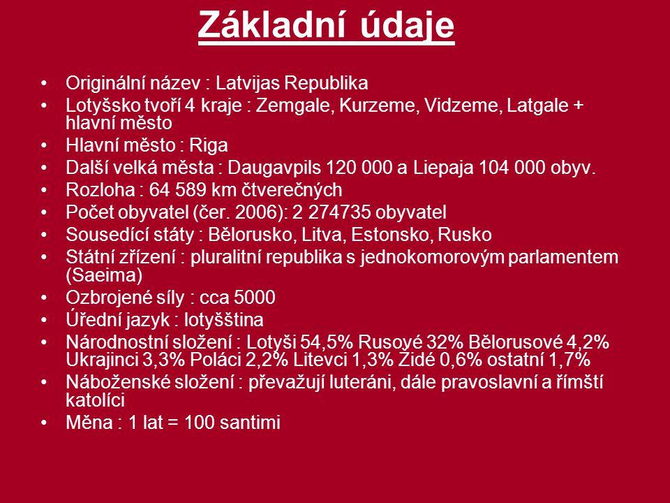 Základní údaje Originální název : Latvijas Republika