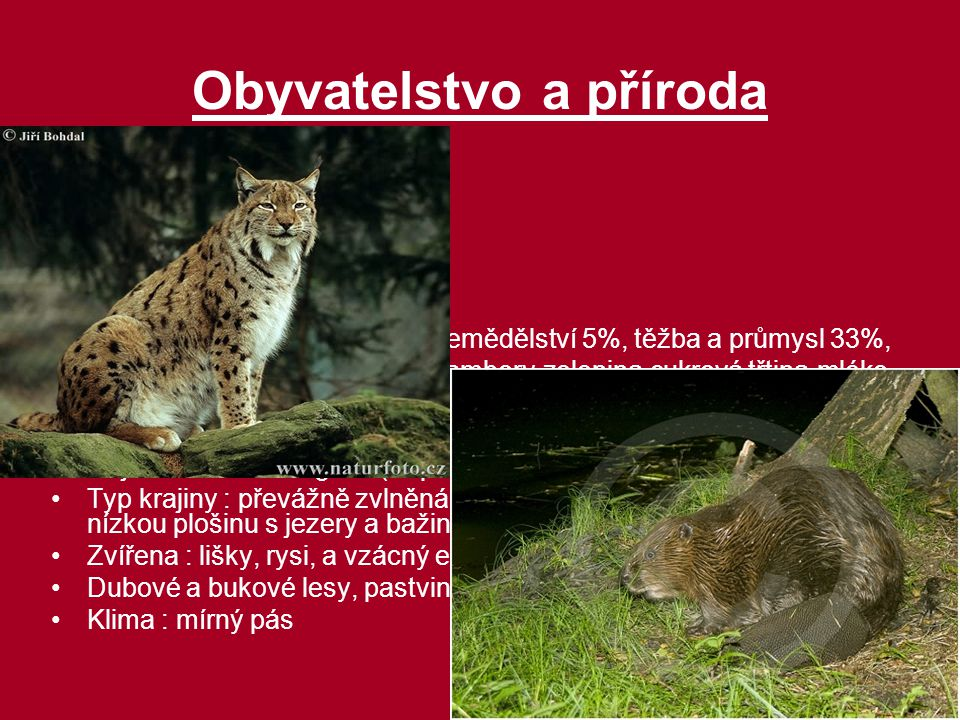 Obyvatelstvo a příroda