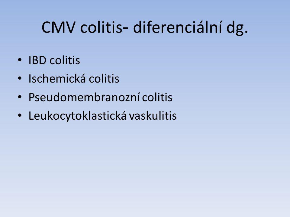 CMV colitis- diferenciální dg.