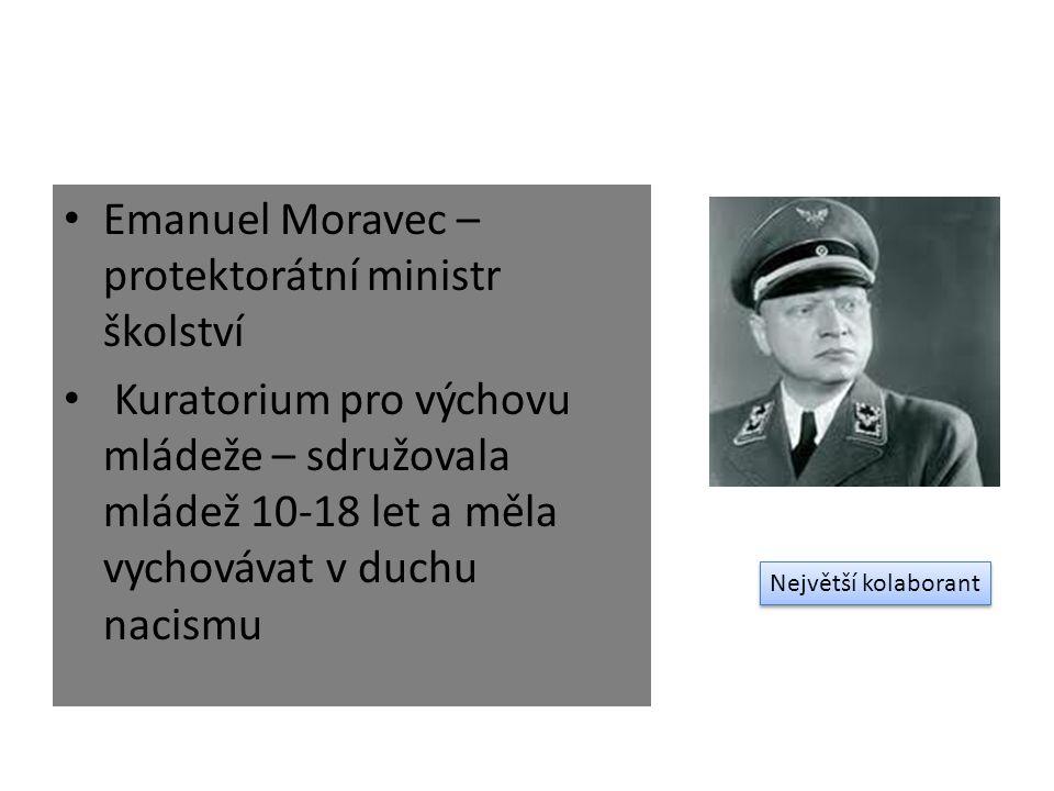 Emanuel Moravec – protektorátní ministr školství