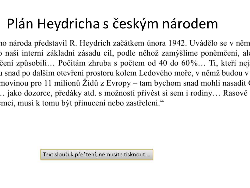 Plán Heydricha s českým národem