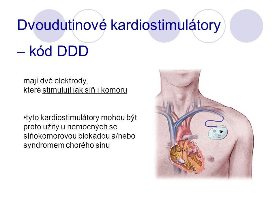 Dvoudutinové kardiostimulátory – kód DDD