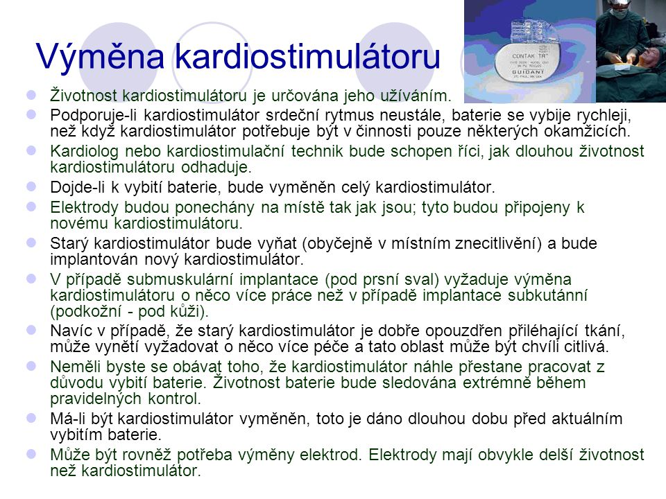 Výměna kardiostimulátoru