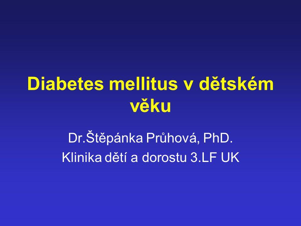Diabetes mellitus v dětském věku
