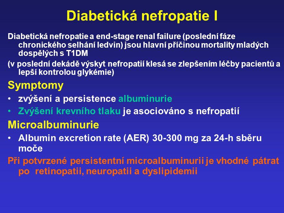 Diabetická nefropatie I