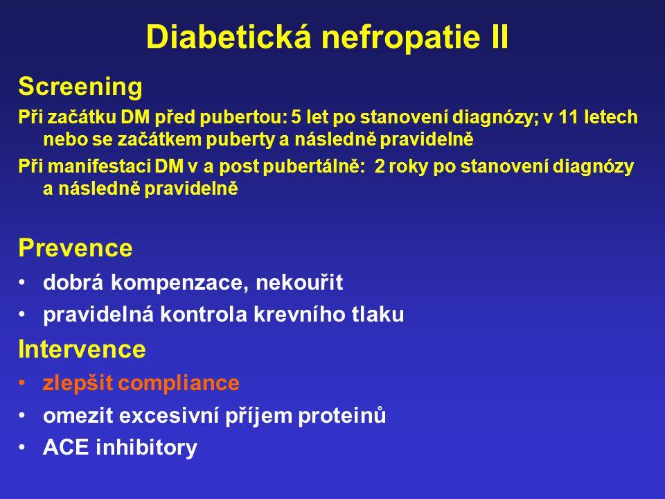 Diabetická nefropatie II