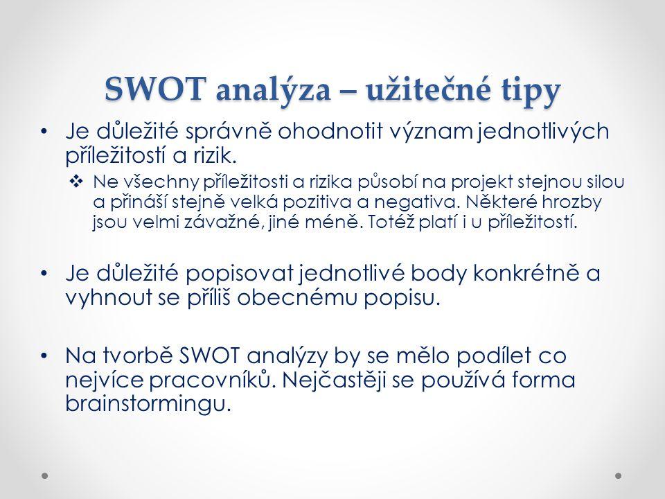 SWOT analýza – užitečné tipy