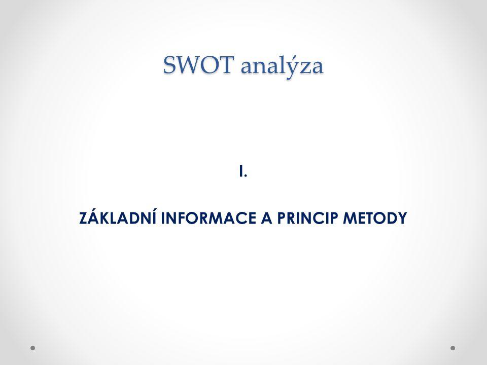 ZÁKLADNÍ INFORMACE A PRINCIP METODY