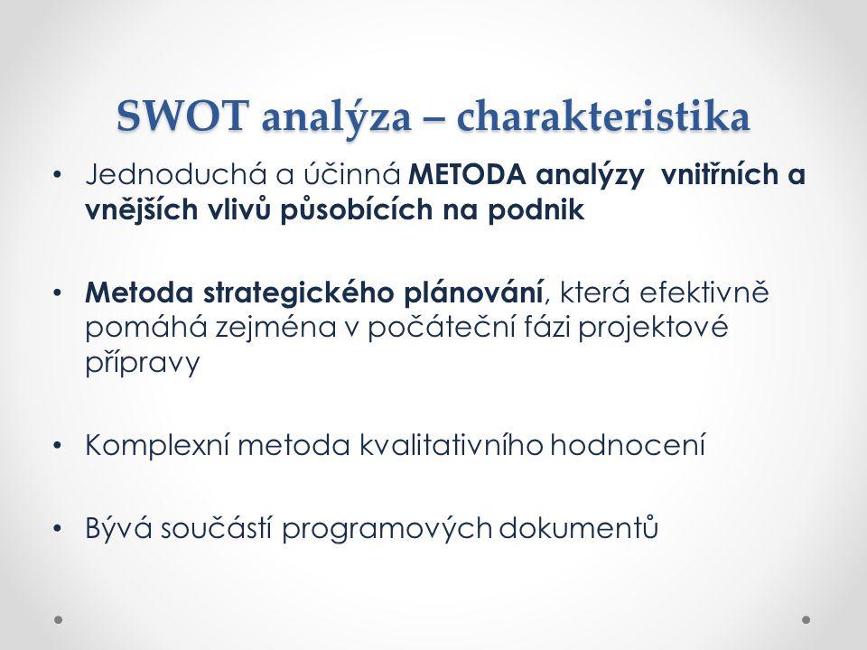 SWOT analýza – charakteristika