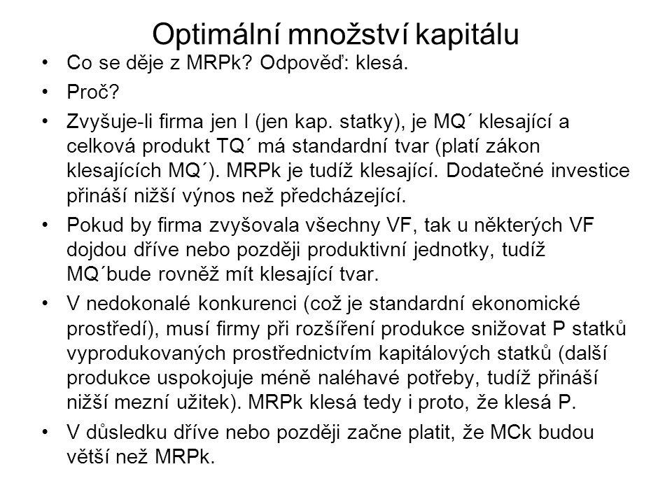Optimální množství kapitálu