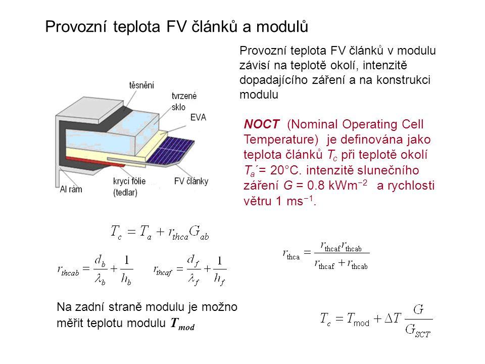 Provozní teplota FV článků a modulů