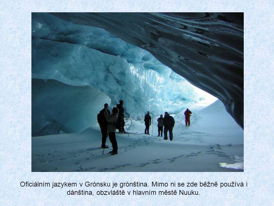 Oficiálním jazykem v Grónsku je grónština