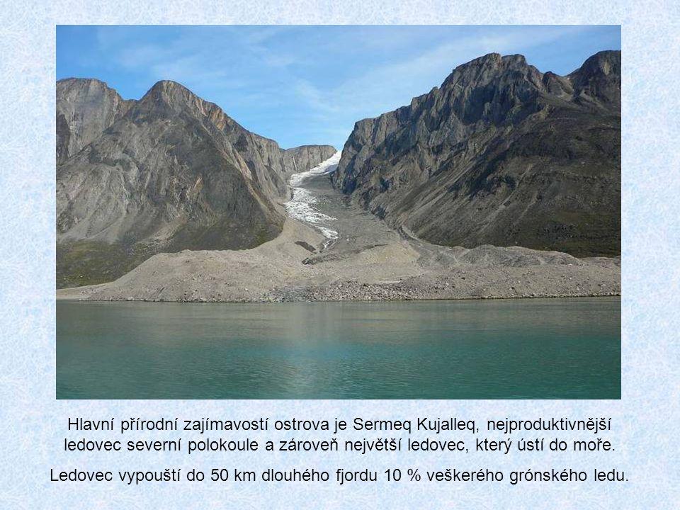 Hlavní přírodní zajímavostí ostrova je Sermeq Kujalleq, nejproduktivnější ledovec severní polokoule a zároveň největší ledovec, který ústí do moře.