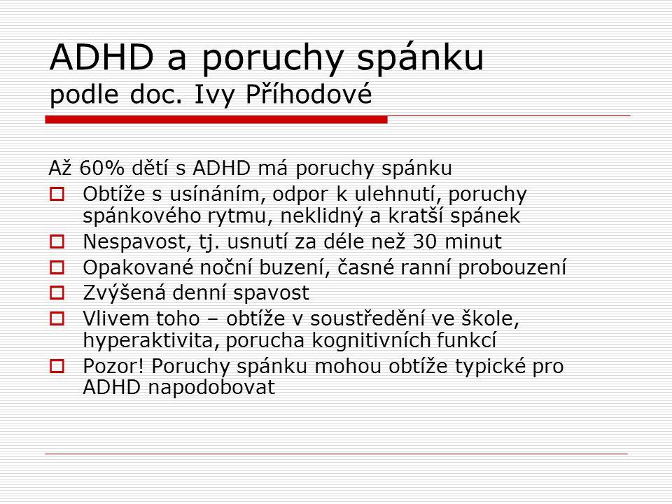 ADHD a poruchy spánku podle doc. Ivy Příhodové